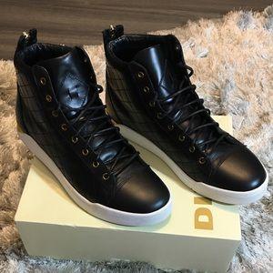 Men's black Tempus Diamond hightop sneakers